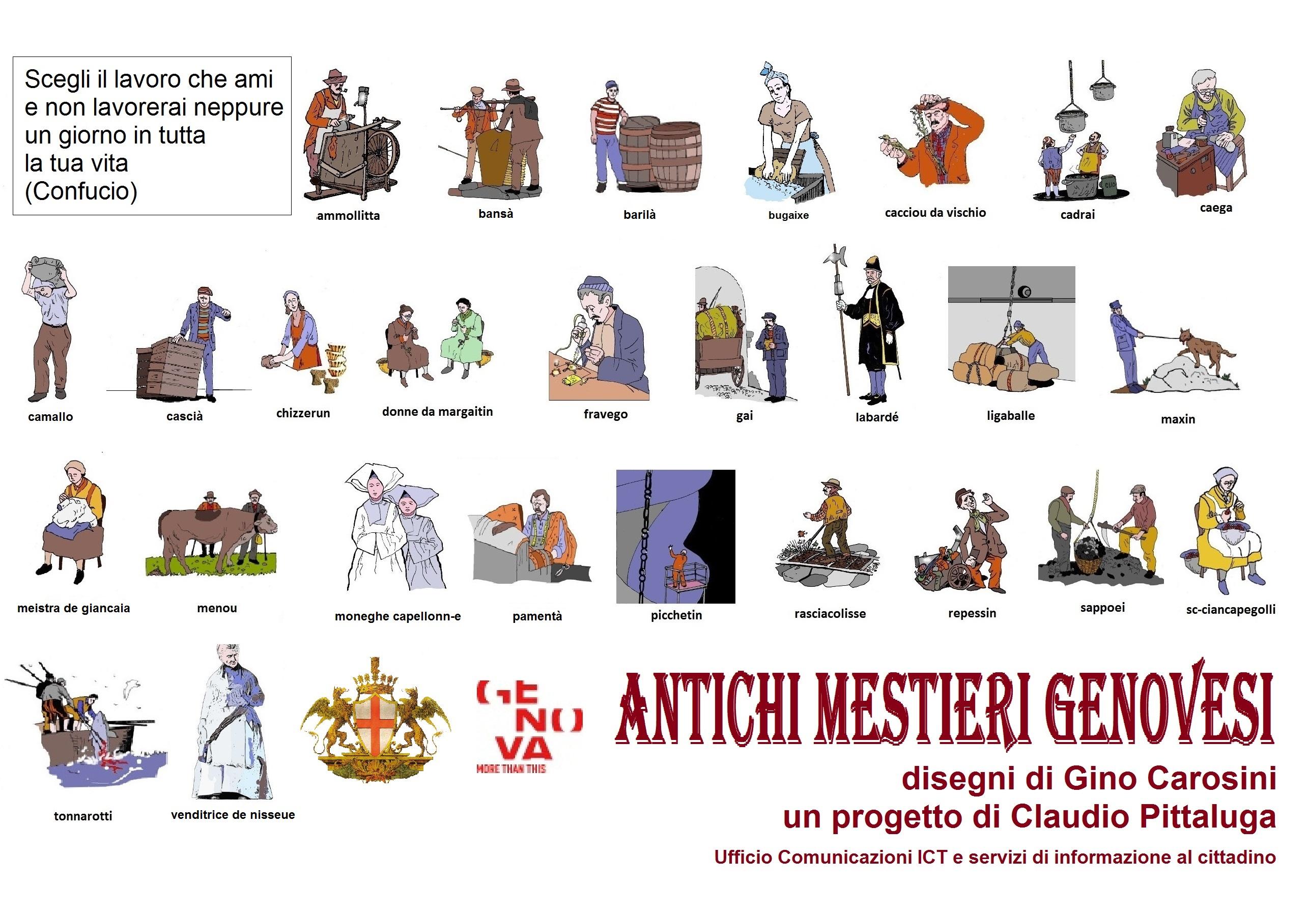 Mestieri Con La L.Antichi Mestieri Genovesi Comune Di Genova