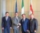 il presidente del consiglio comunale Giorgio Guerello incontra la delegazione