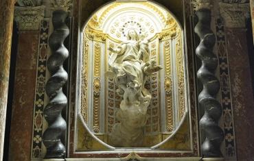 L'altare della cappella nell'appartamento dei Dogi