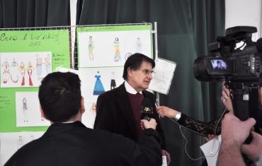 Assessore alle scuole Pino Boero intervistato