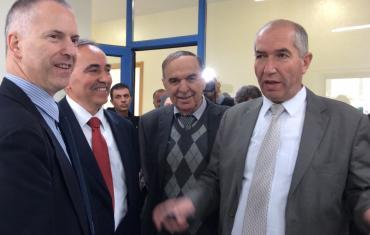 Il sindaco Doria con il sindaco di Hebron Daoud Al Zatari
