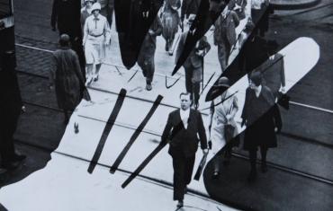 Heinz Hajek-Halke, Halt!, 1931_1932, sovrimpressione