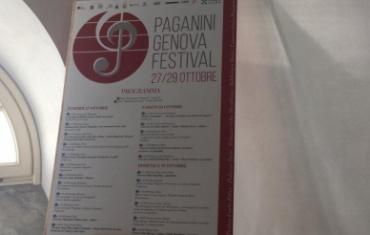 programma del Pagani Genova Festival