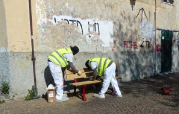 Migranti volontari in piazza Remondini