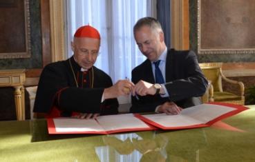 Il Cardinale Angelo Bagnasco e il sindaco Marco Doria