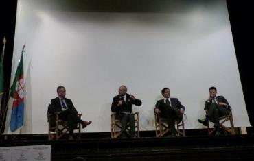 Marco Doria, Fabrizio Curcio, Giovanni Toti e Giacomo Giampedrone