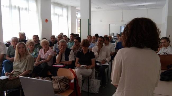 un momento del workshop nella scuola Duca degli Abruzzi