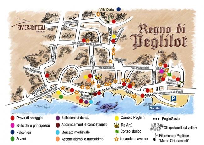 piantina del regno di Peglilot