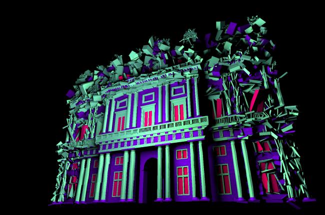 video mapping sulla facciata