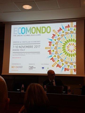 L'assessore Matteo Campora alla fiera  Ecomondo di Rimini