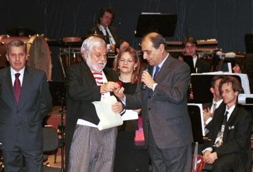 Paolo Villaggio alla cerimonia peri il grifo