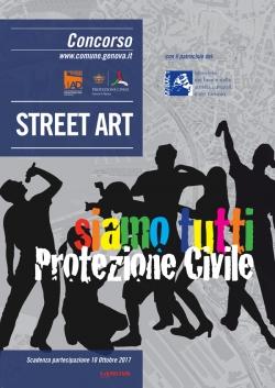 bando street art siamo tutti protezione civile