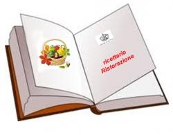 libro con scritto ricettario ristorazione scolastica