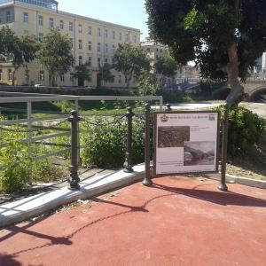 pannello con evoluzione storico-urbanistica ponte S. Agata