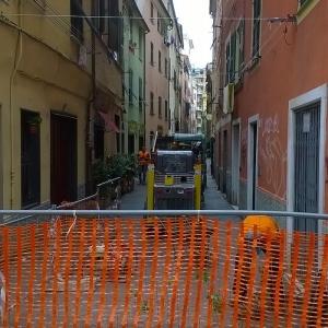 area di cantiere inizio lavori settembre 2016