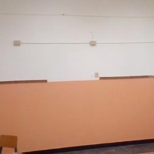 aula vista laterale dopo la tinteggiatura