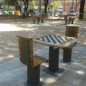 tavolo per scacchi e dama