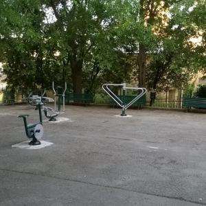 dopo la riqualificazione con area fitness e nuove panchine