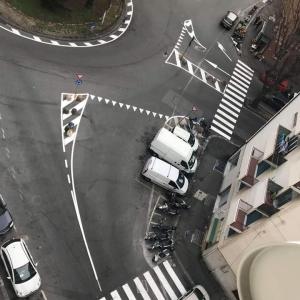 Piazza Guicciardini e nuova segnaletica orizzontale