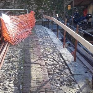 Ponte pedonale dopo realizzazione lavori