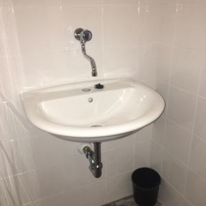 Lavabo servizi igienici dopo