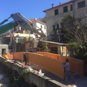lavori costruzione passerella