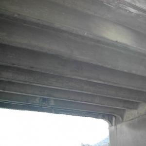 ponte Feritore, intradosso impalcato